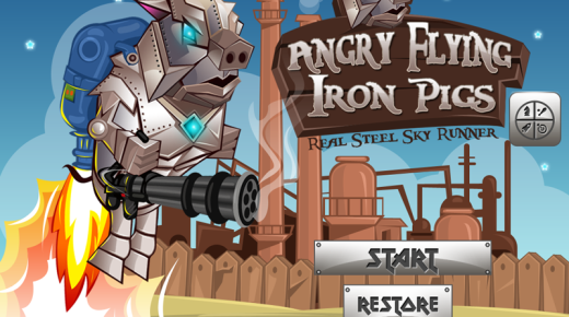 Angry Flying Iron Piggies